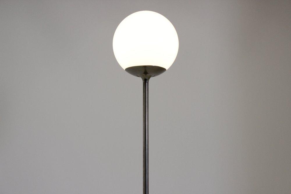 Price per piece - Mid-Century Italian Floor Light With Globe Lamp, 1970s For Sale At