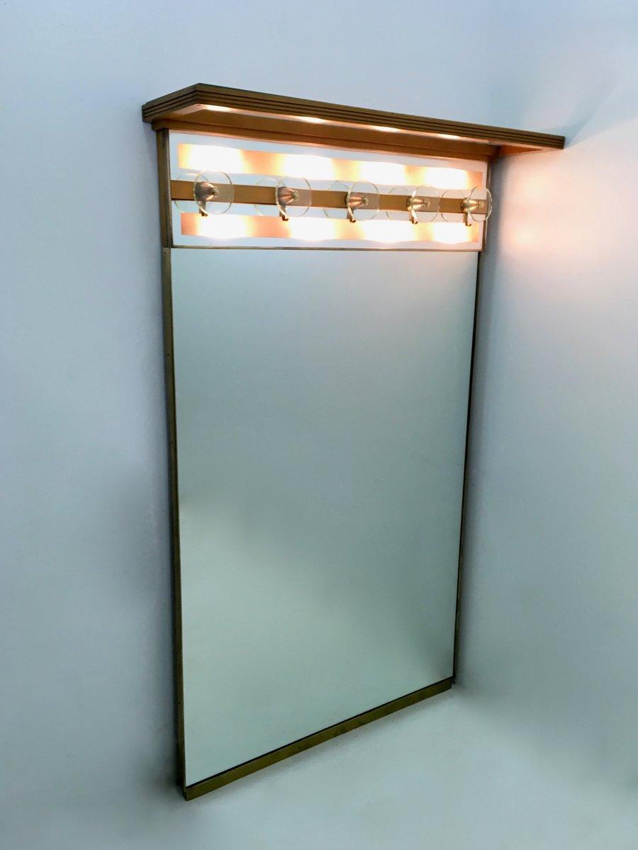 beleuchtete italienische vintage garderobe mit spiegel bei. Black Bedroom Furniture Sets. Home Design Ideas