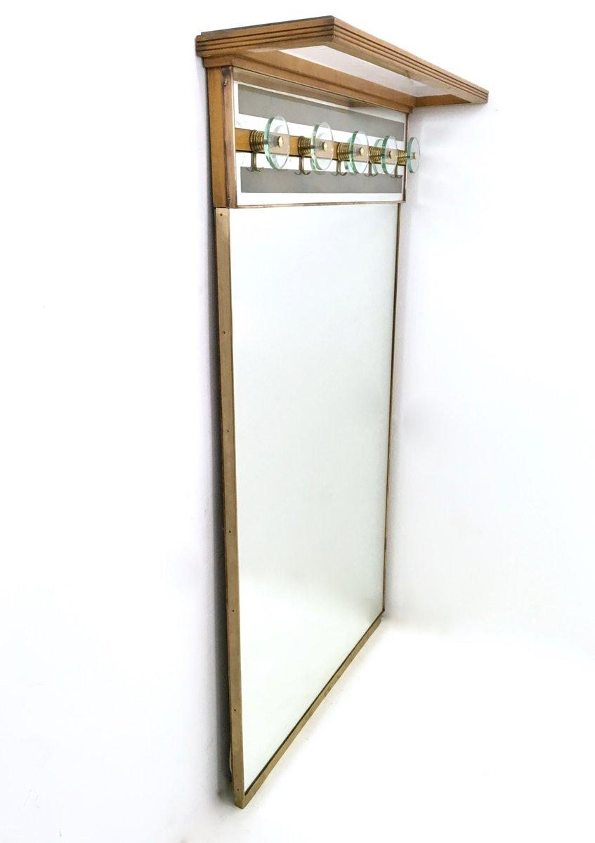 beleuchtete italienische vintage garderobe mit spiegel bei pamono kaufen. Black Bedroom Furniture Sets. Home Design Ideas