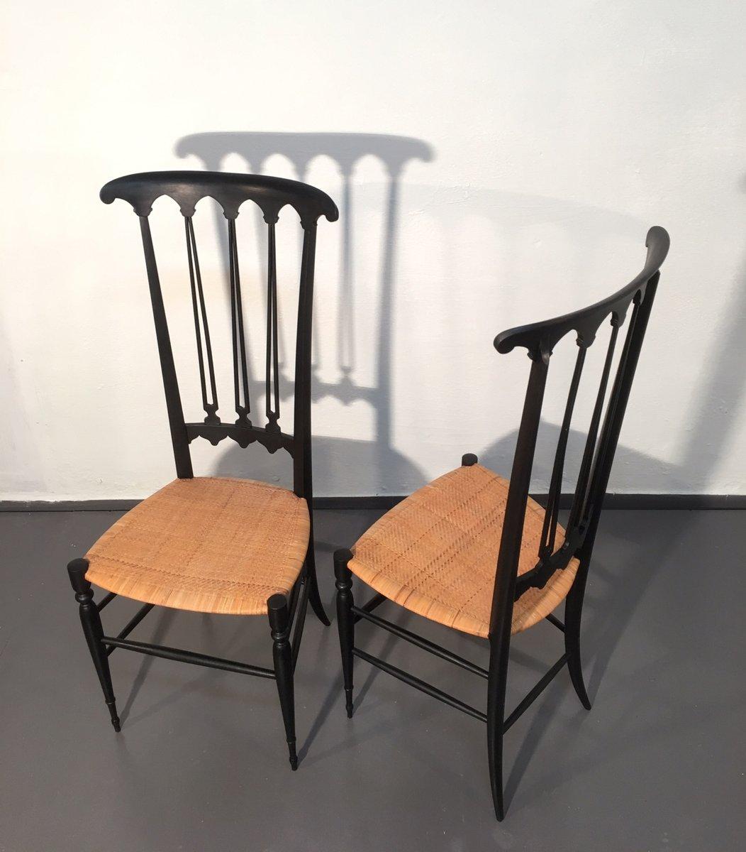 Cool sedie chiavari midcentury nere set di with sedie nere for Sedie nere ikea