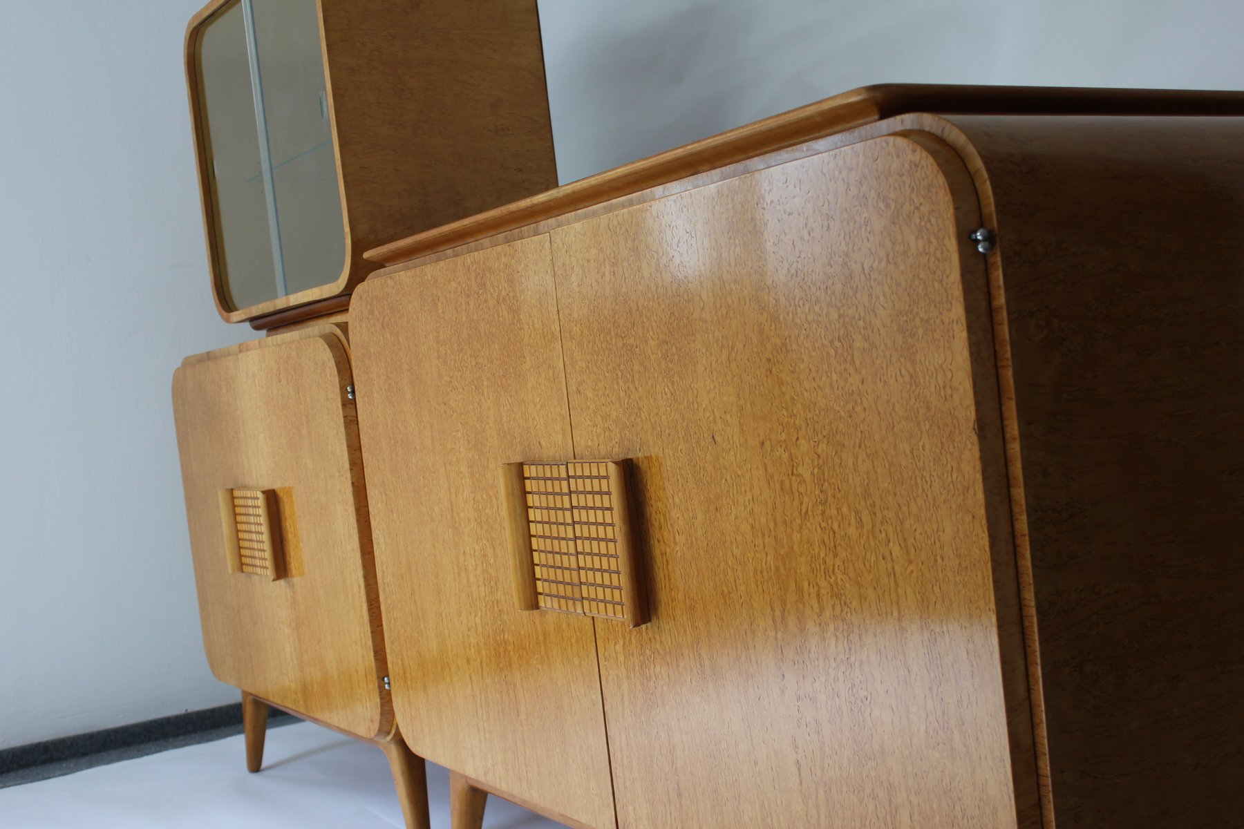 vintage buffet and vitrine by jindrich halabala for up. Black Bedroom Furniture Sets. Home Design Ideas