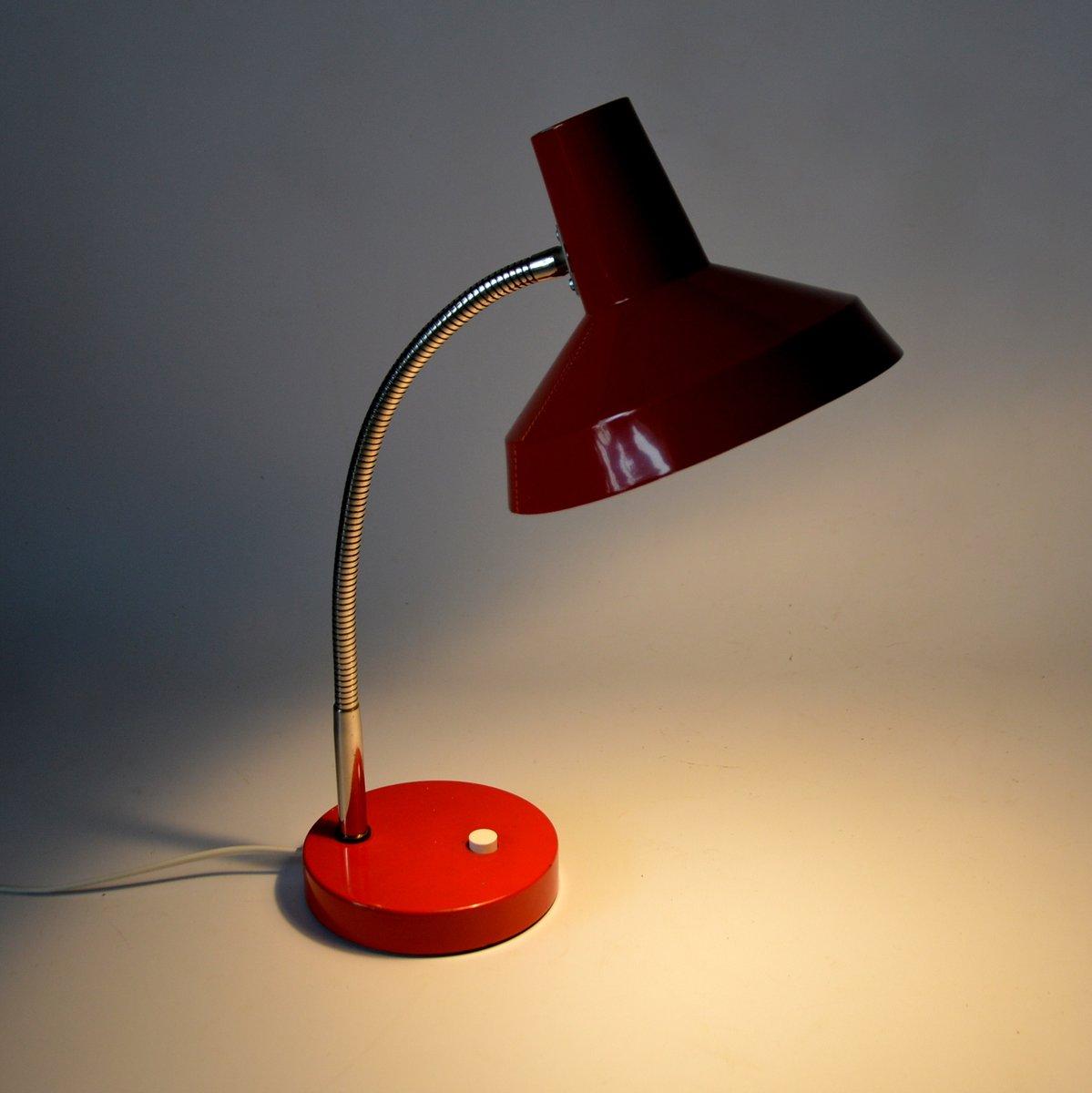 Lampada da scrivania vintage industriale rossa in vendita - Lampada da scrivania design ...