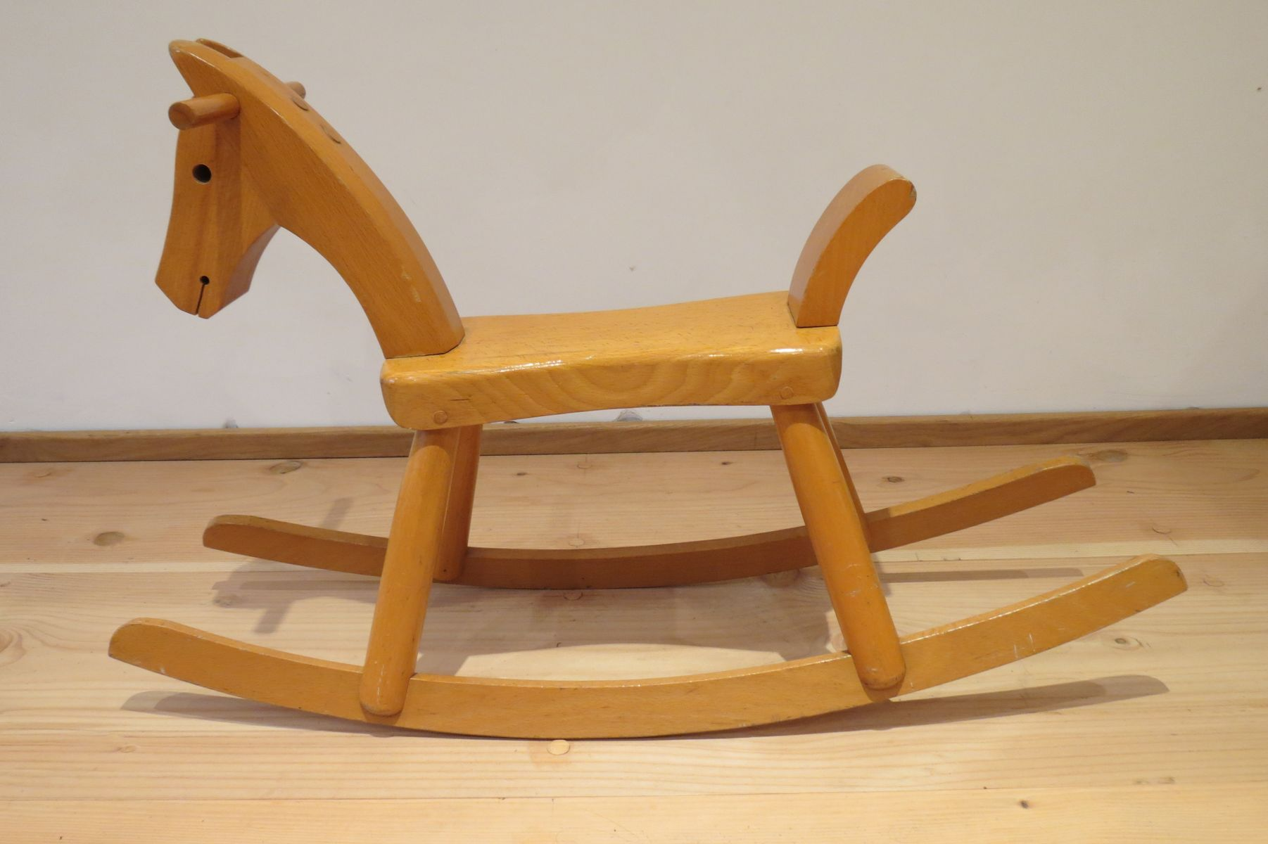 Vintage rocking horse from kay bojesen 1960s for sale at for Vintage horseshoes for sale