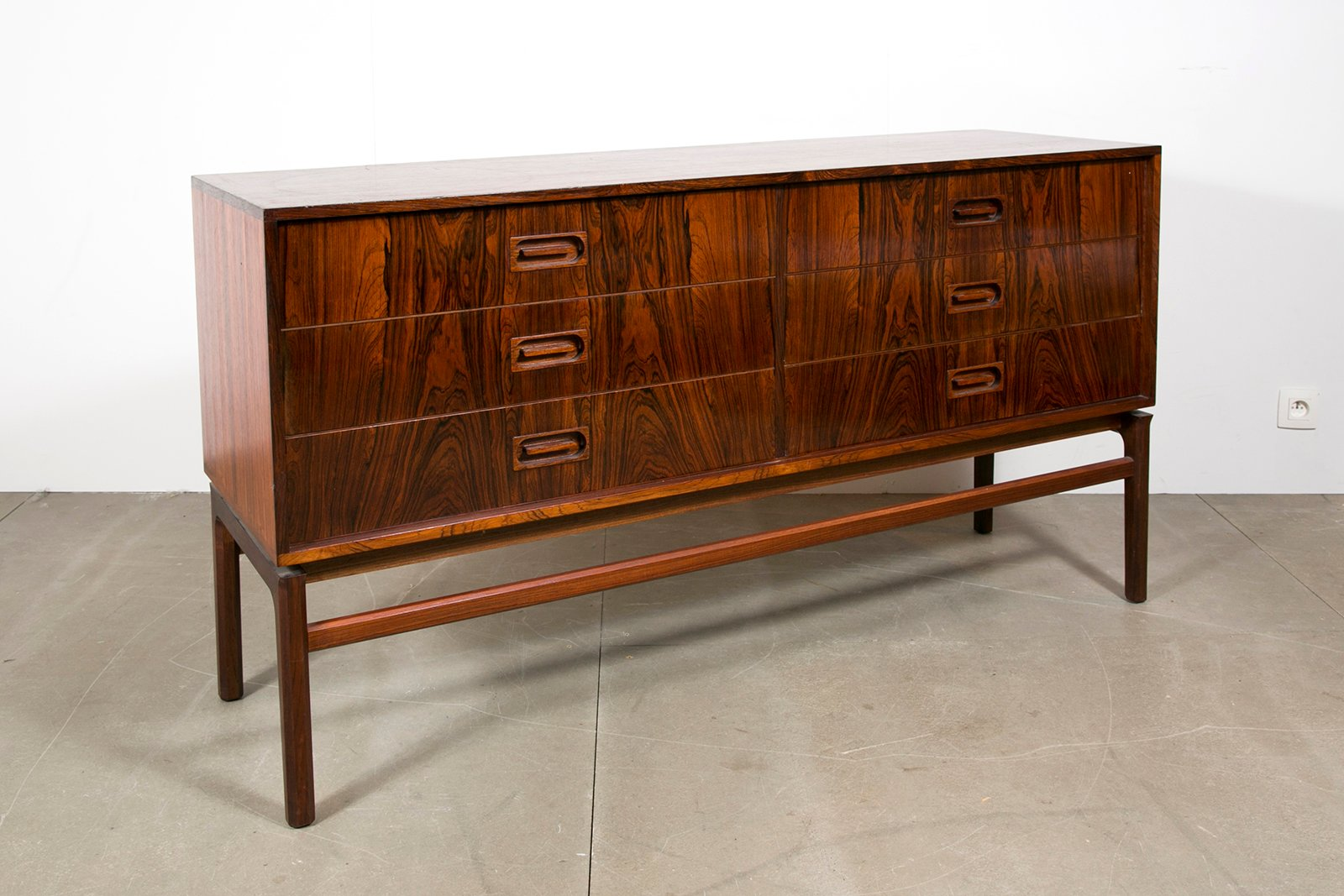 Danish six drawer chest of drawers 1970s for sale at pamono for 1 door 6 drawer chest
