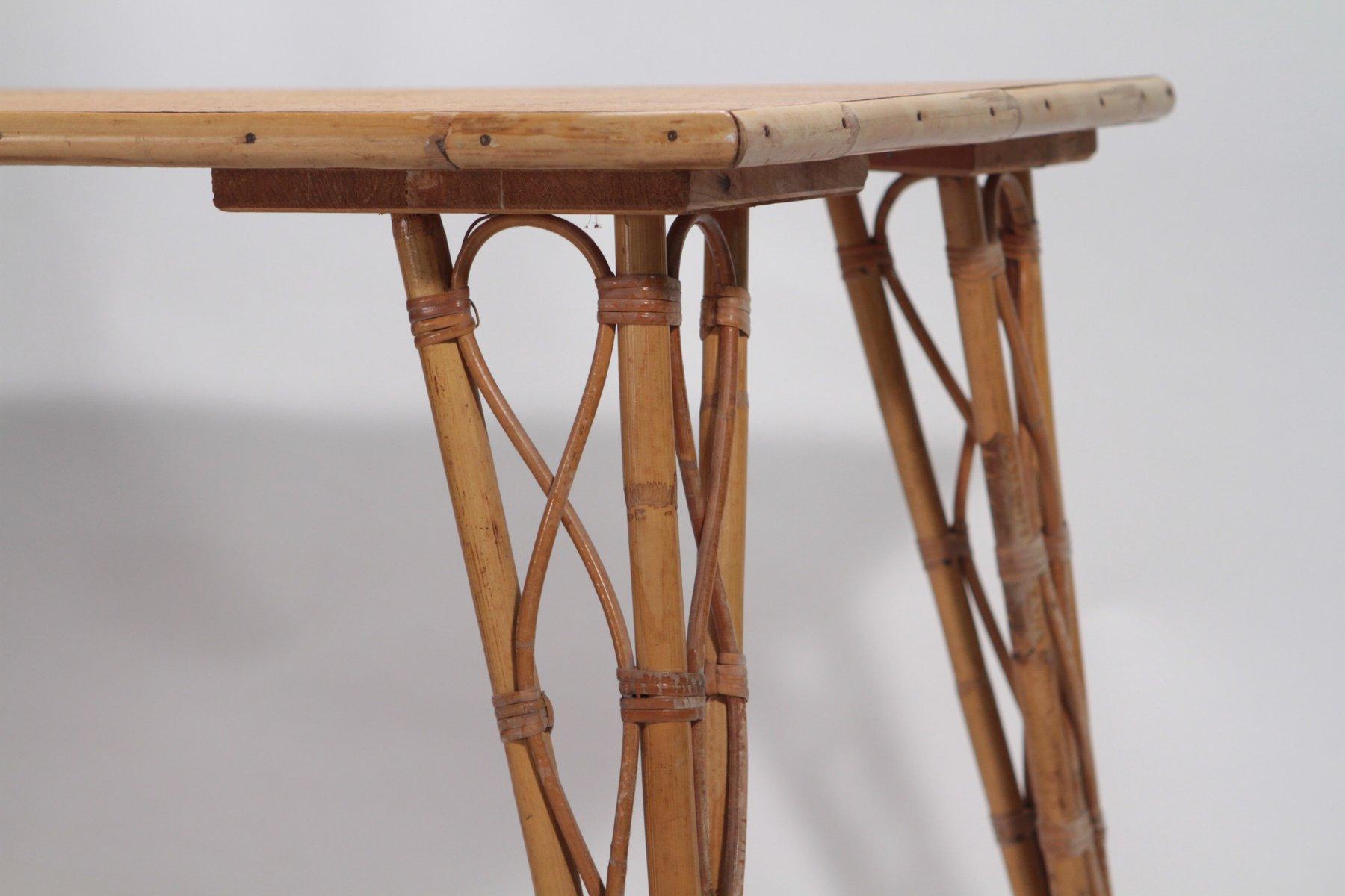 tisch und vier gartenst hle von audoux minet 1950er bei pamono kaufen. Black Bedroom Furniture Sets. Home Design Ideas