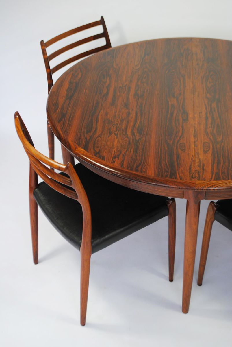 model 78 rosewood dining set by niels otto m