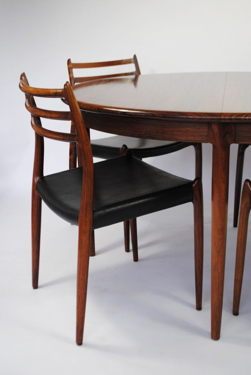 Model 78 Rosewood Dining Set by Niels Otto Møller for J. L. ...