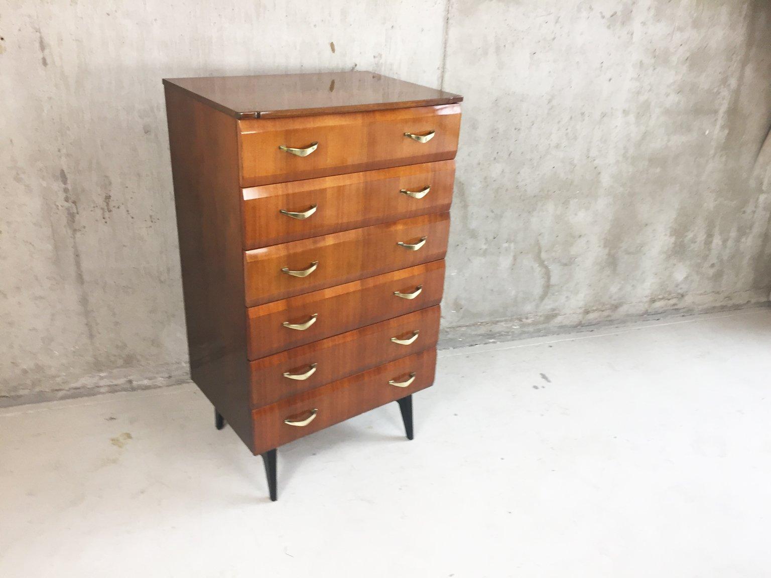 schmale abgeschr gte kommode 1960er bei pamono kaufen. Black Bedroom Furniture Sets. Home Design Ideas