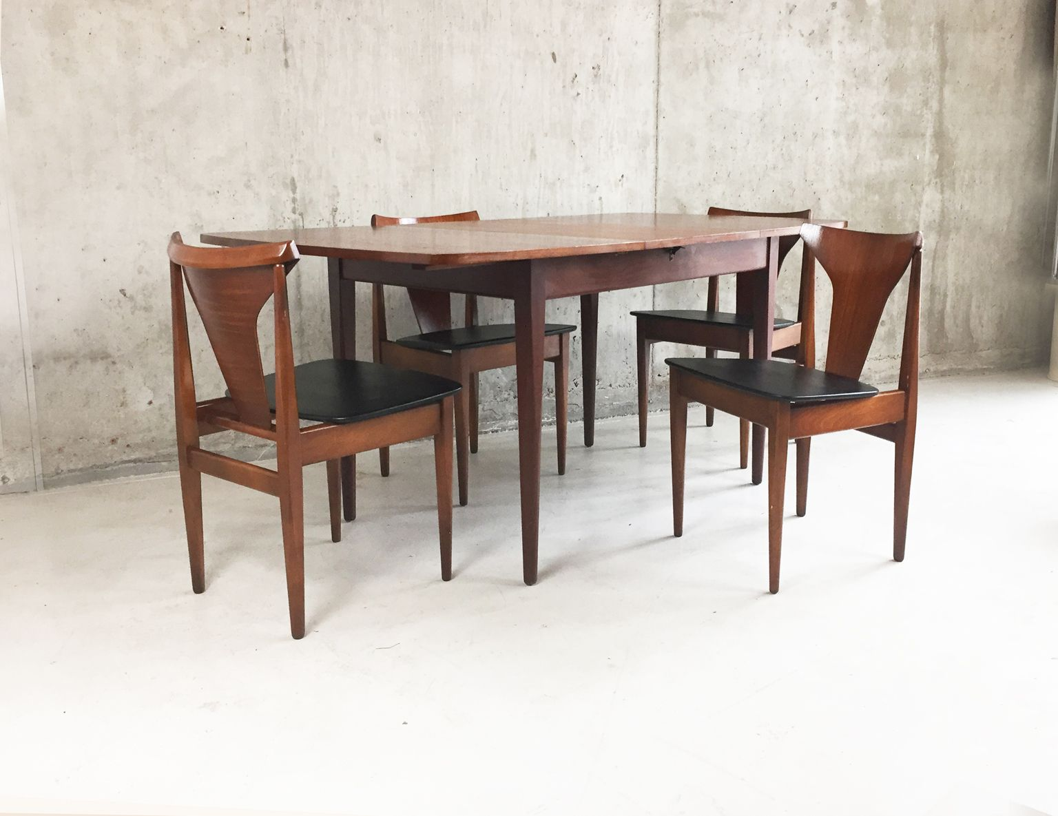 Teak dining room sets g plan teak dining table 6 chairs for G plan dining room furniture