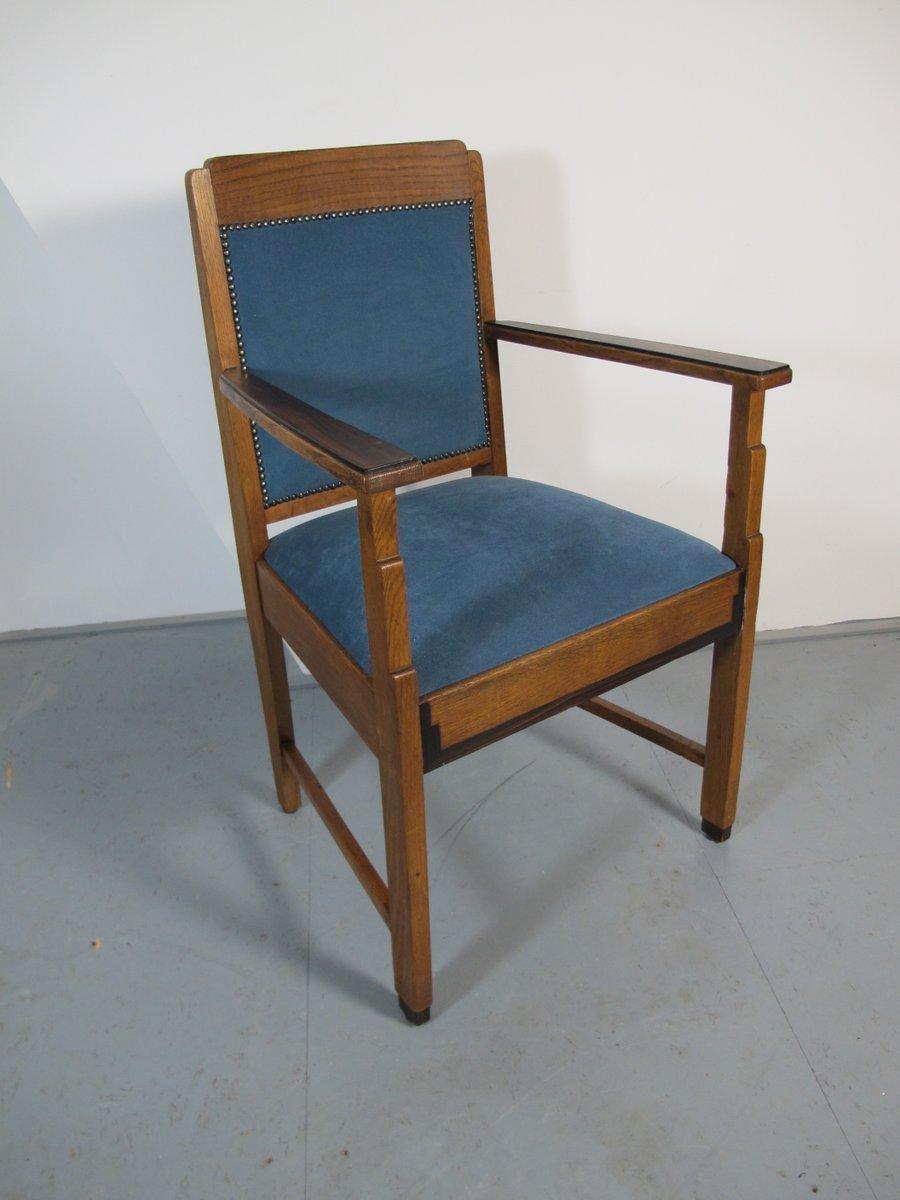 art deco stuhl aus eiche und ebenholz 1920er bei pamono kaufen. Black Bedroom Furniture Sets. Home Design Ideas