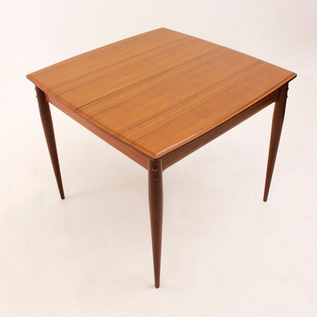 viereckiger ausziehbarer italienischer esstisch 1950er. Black Bedroom Furniture Sets. Home Design Ideas