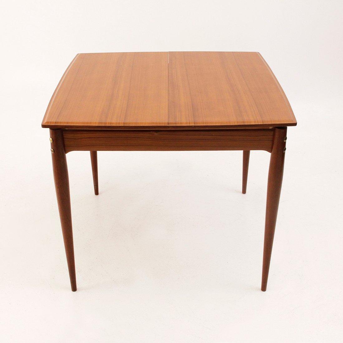 tavolo da pranzo quadrato allungabile, italia, anni '50 in vendita ... - Tavolo Soggiorno Quadrato Allungabile