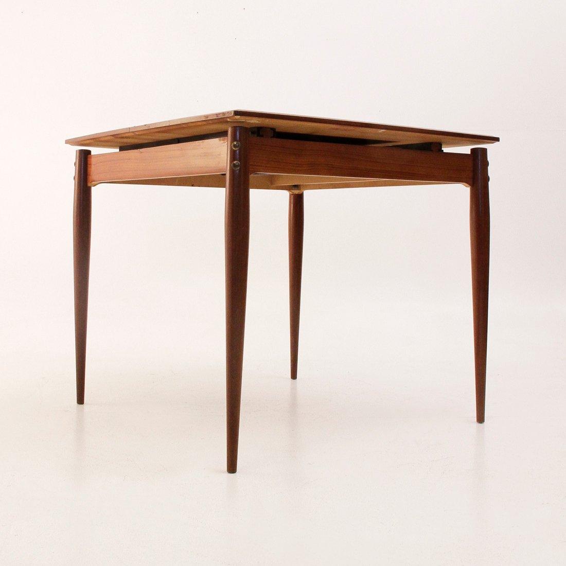 tavolo da pranzo quadrato allungabile italia anni 39 50 in