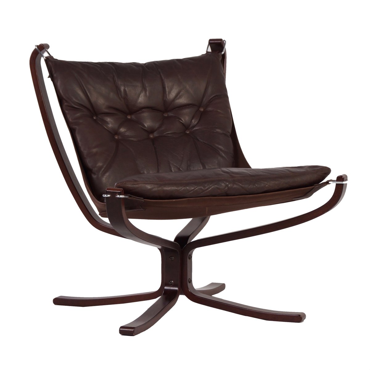 Vintage scandinavian falcon chair by sigurd ressell for for Norwegian vintage office chair