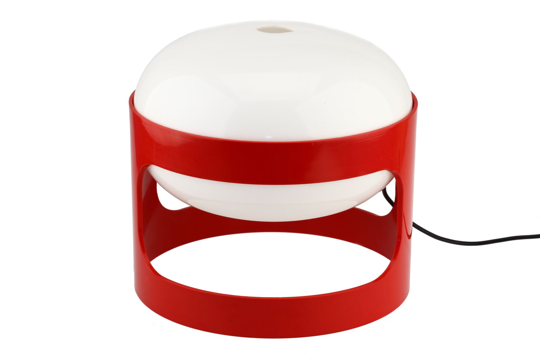 lampe de bureau vintage kd27 space age en plastique rouge de joe colombo pour kartell en vente. Black Bedroom Furniture Sets. Home Design Ideas