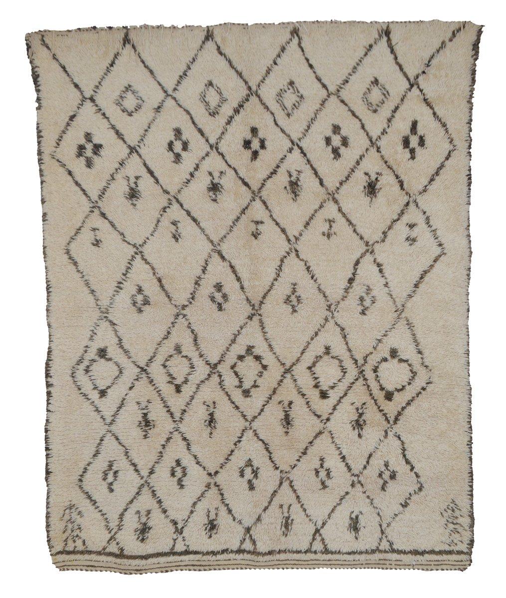 beni ourain berber rug 1970s for sale at pamono. Black Bedroom Furniture Sets. Home Design Ideas