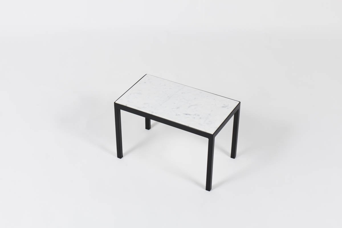 Vintage Coffee Table With White Carrare Marble For Sale At Pamono
