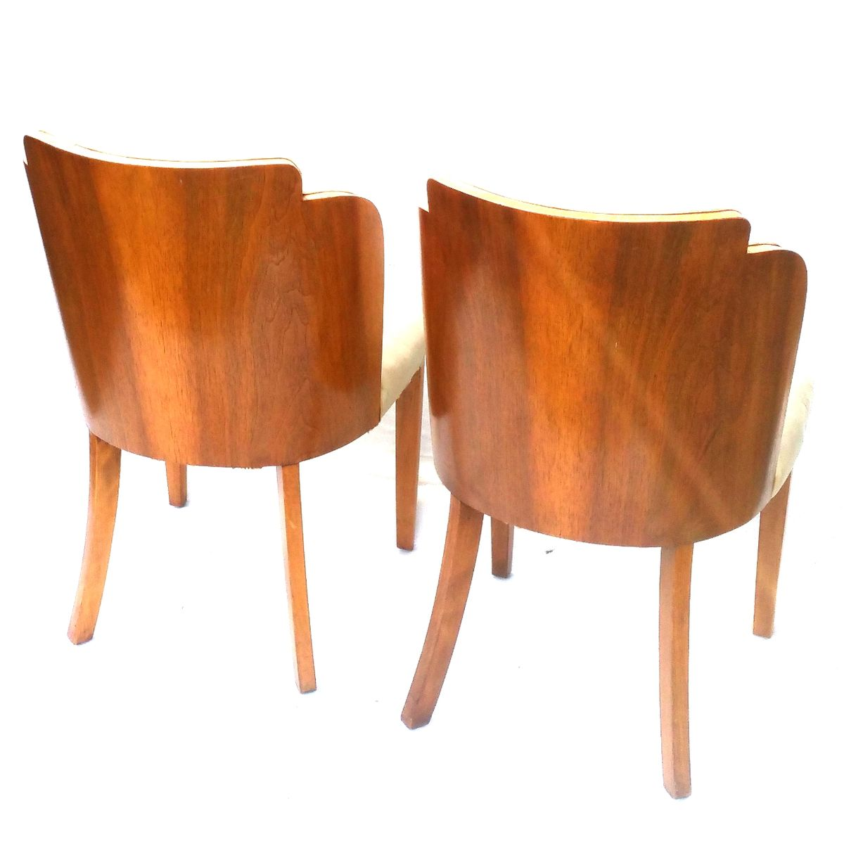 Art deco dining chairs by harry lou epstein set of 4 for sale at pamono - Epstein art deco furniture ...