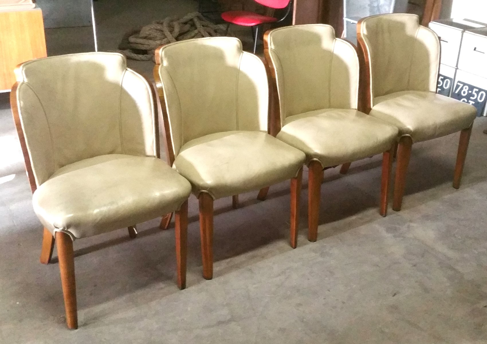 Art Deco Dining Chairs by Harry Lou Epstein Set of 4 for sale