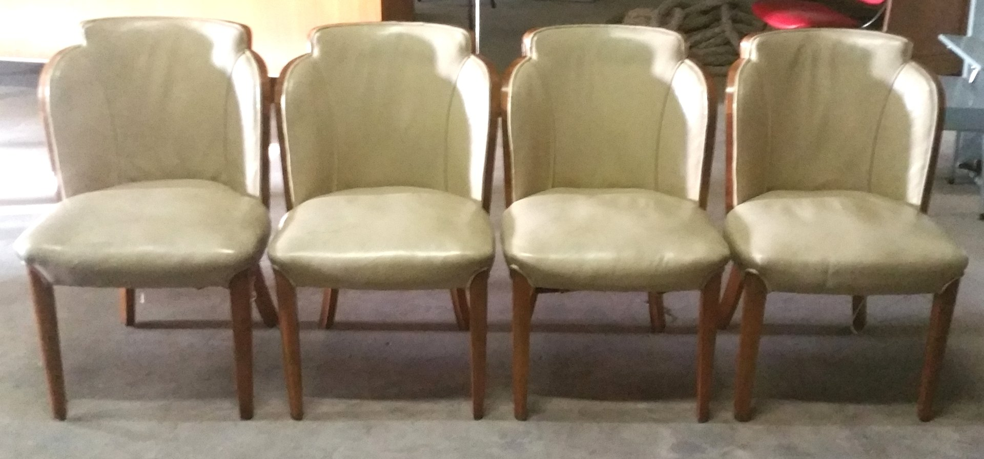 Art Deco Dining Chairs By Harry U0026 Lou Epstein, Set Of 4