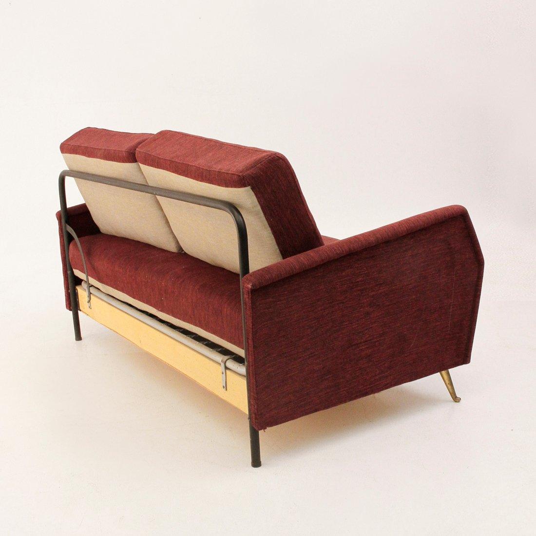 Divano letto mid century italia anni 39 50 in vendita su pamono - Divano letto b b italia ...
