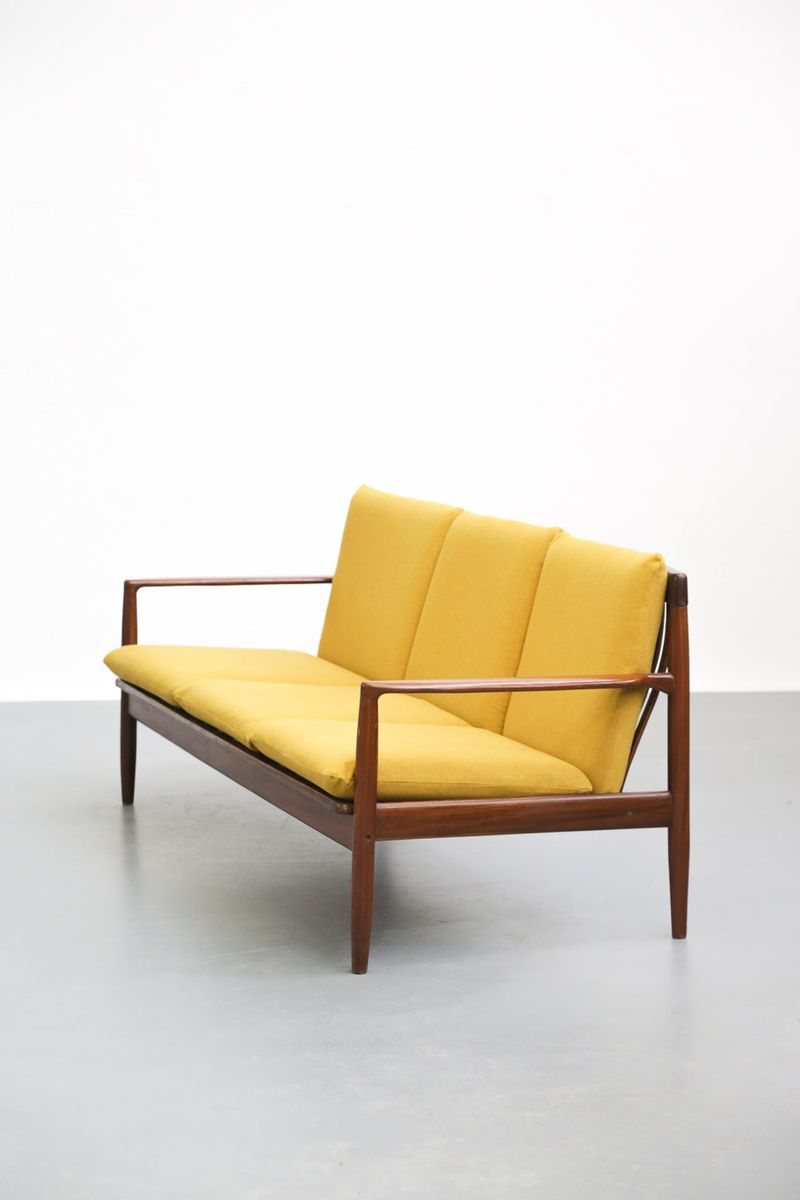 Vintage Yellow Sofa By Grete Jalk For Sale At Pamono