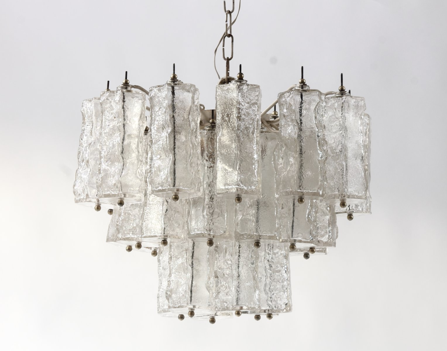 Mid century italian murano glass chandelier by paolo venini 1960s previous aloadofball Choice Image