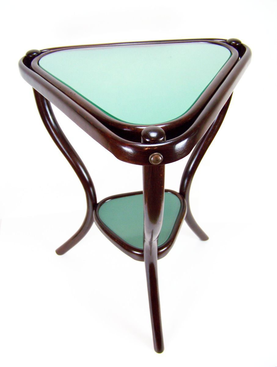antique triangular side table nr.4 from gebrüder thonet, 1890s for