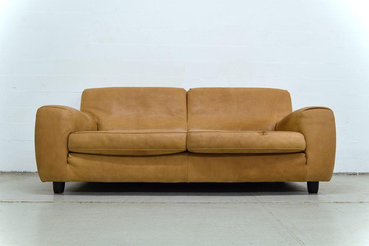 italienisches vintage ledersofa von molinari bei pamono kaufen. Black Bedroom Furniture Sets. Home Design Ideas