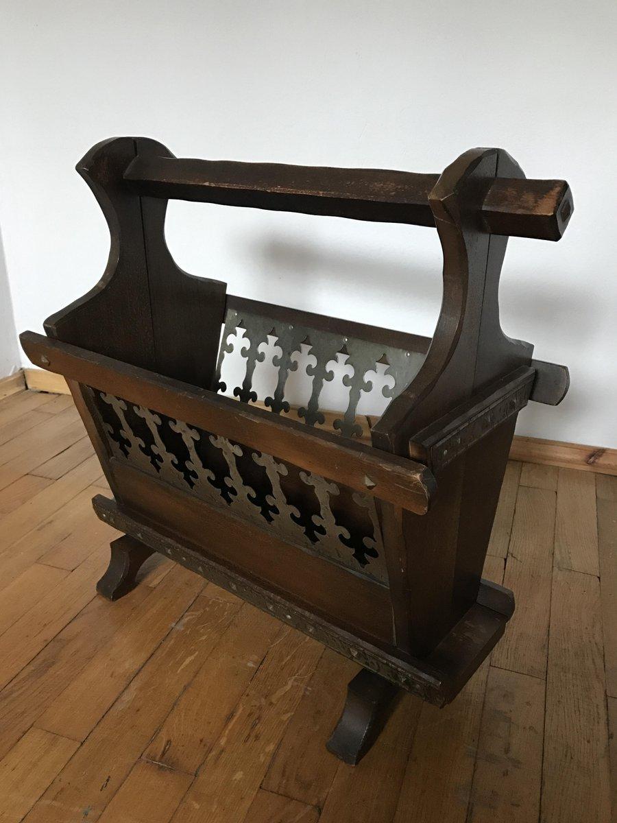 deutscher holz zeitungsst nder 1960er bei pamono kaufen. Black Bedroom Furniture Sets. Home Design Ideas