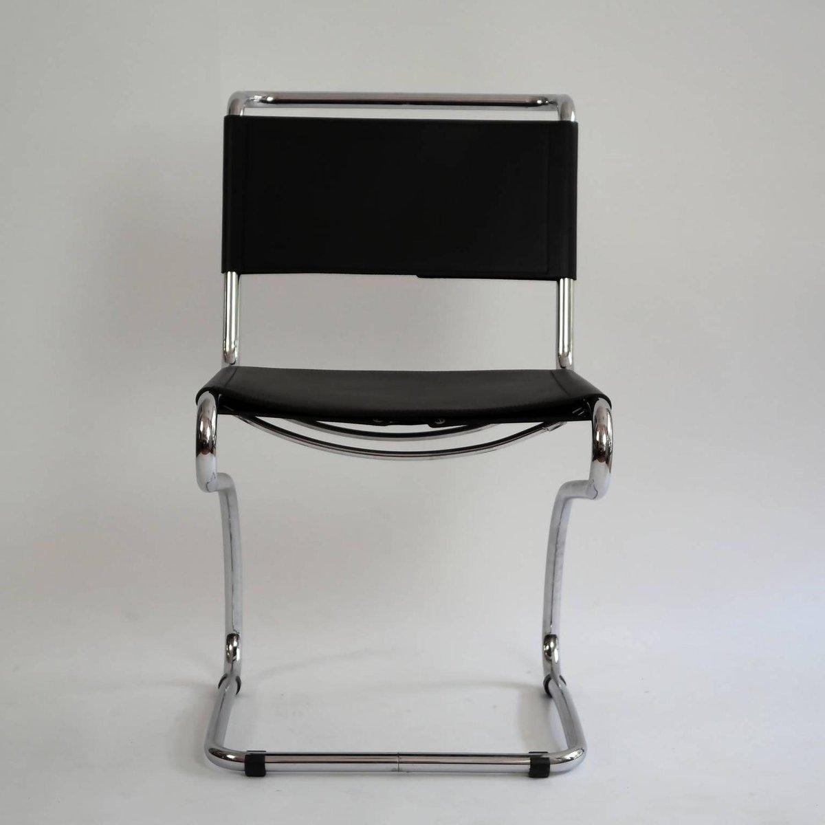 freischwinger sessel aus stahlrohr leder von jindrich halabala 1930er bei pamono kaufen. Black Bedroom Furniture Sets. Home Design Ideas