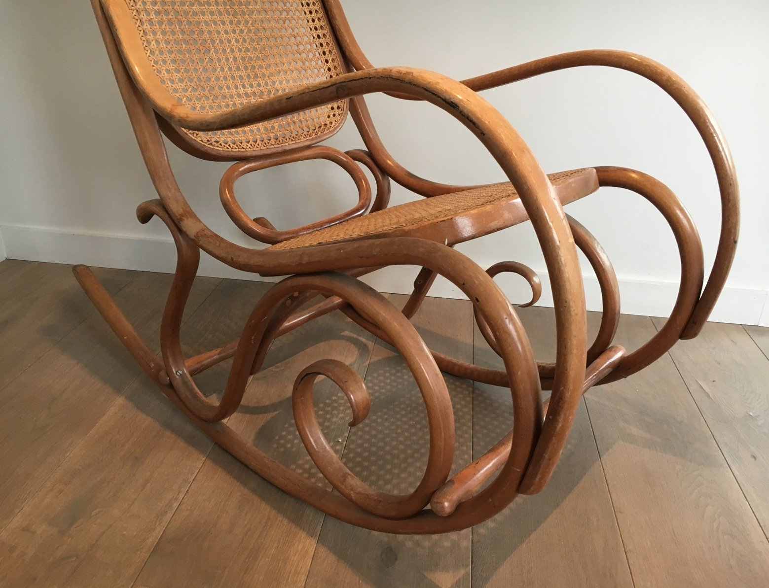 Vintage bentwood chairs - Vintage Bentwood Rocking Chair 1970s