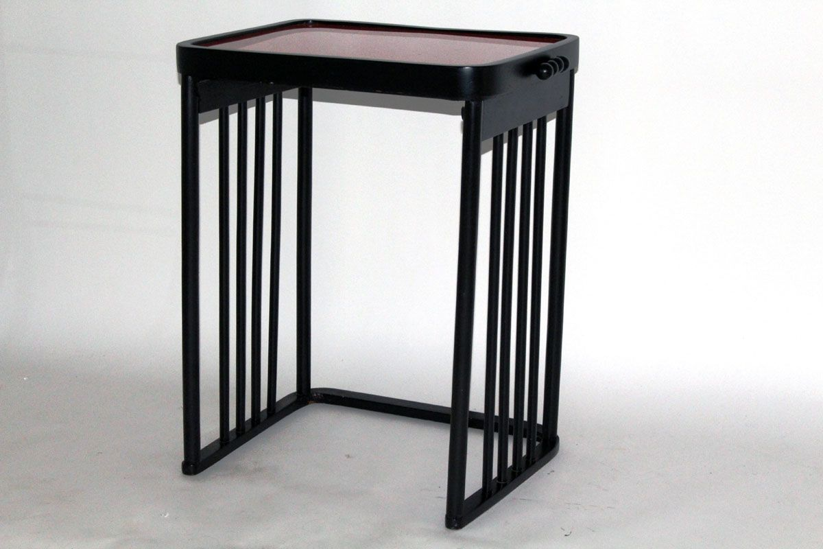 Antique Red And Black Coffee Table By Josef Hoffmann For J J Kohn 1906