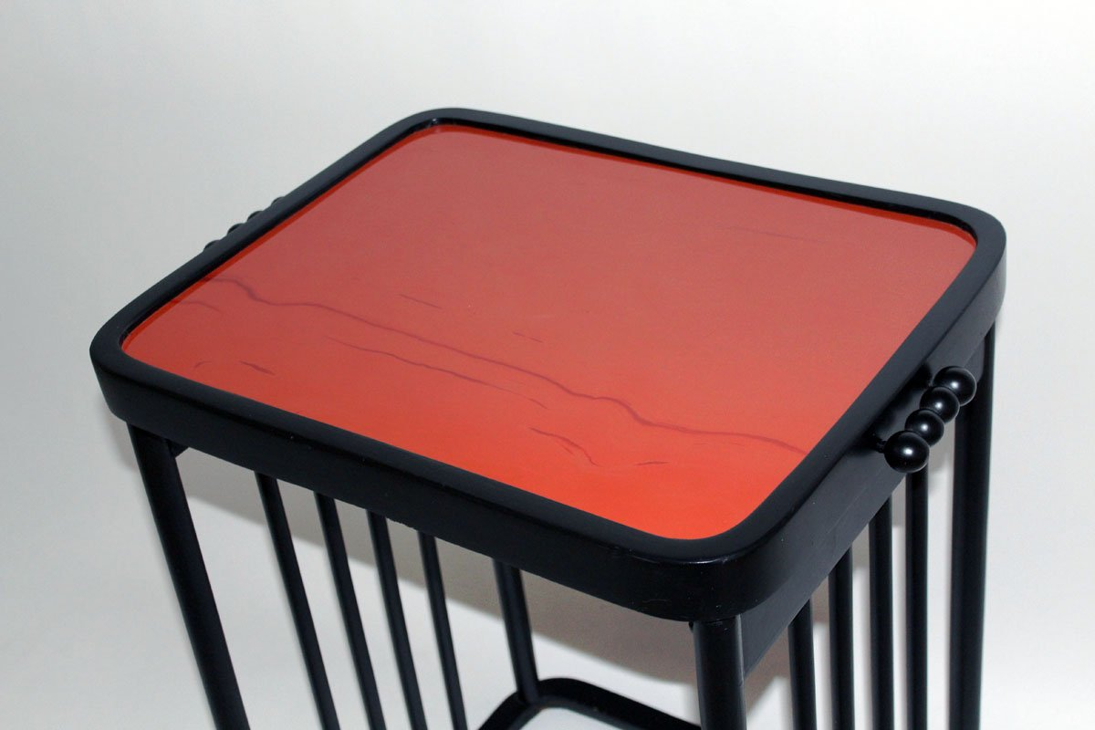 Antique Red And Black Coffee Table By Josef Hoffmann For J J Kohn 1906 For Sale At Pamono