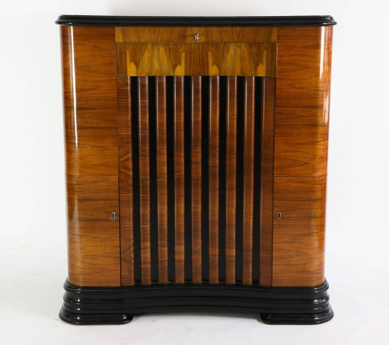 Meuble de bar art d co avec shellec en vente sur pamono for Meuble art deco belgique