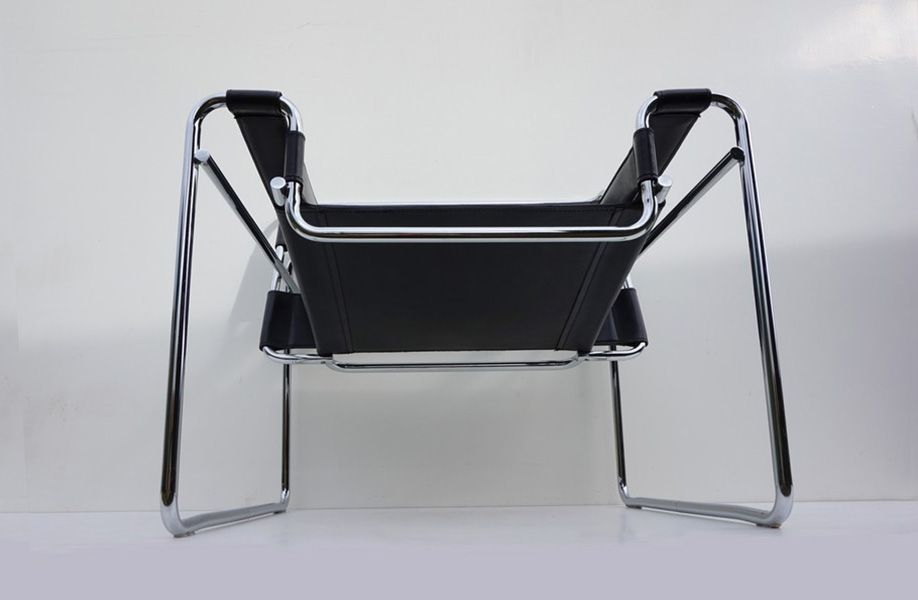 Mid Century Black Wassily Chair By Marcel Breuer For Sale At Pamono