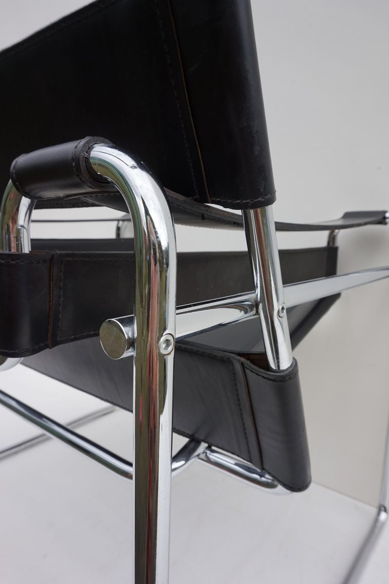 Mid century black wassily chair by marcel breuer for sale at pamono - Wassily chair price ...