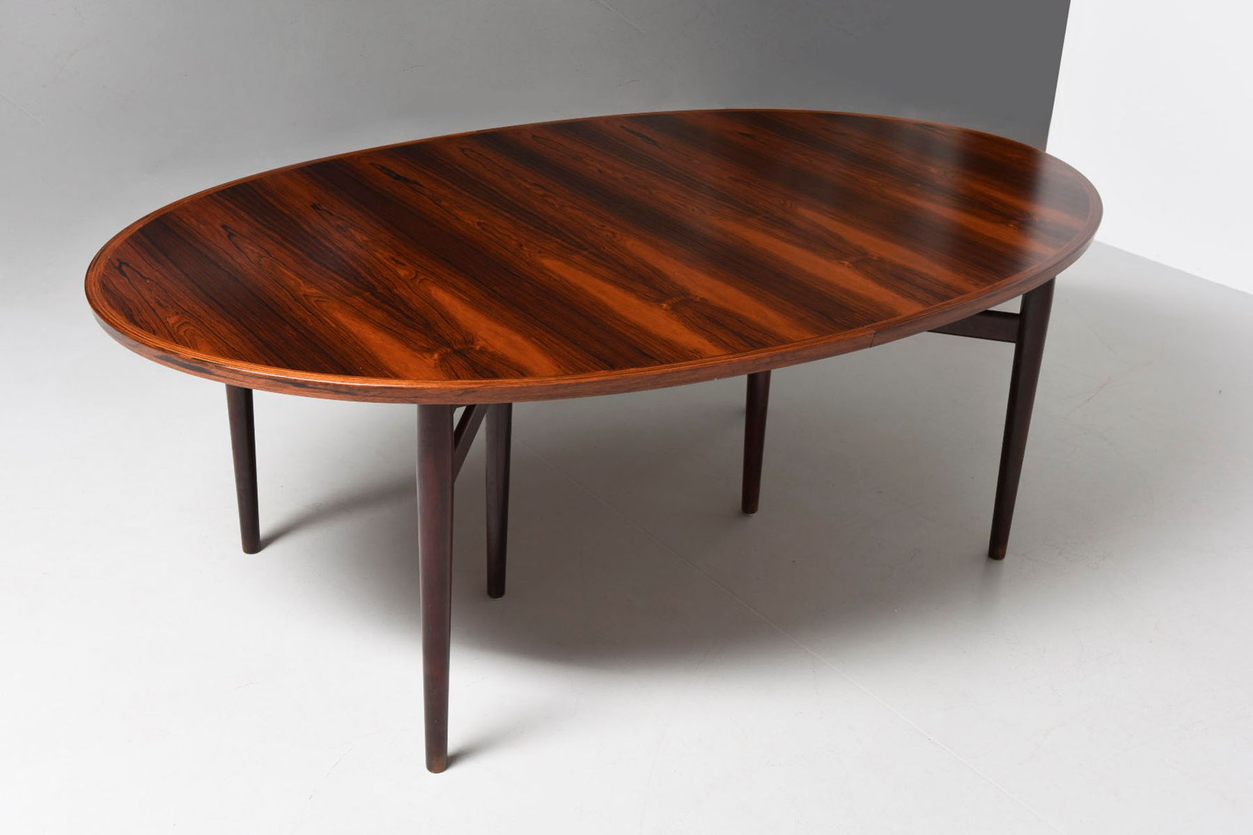 mid century danish 212 oval dining table by arne vodder for