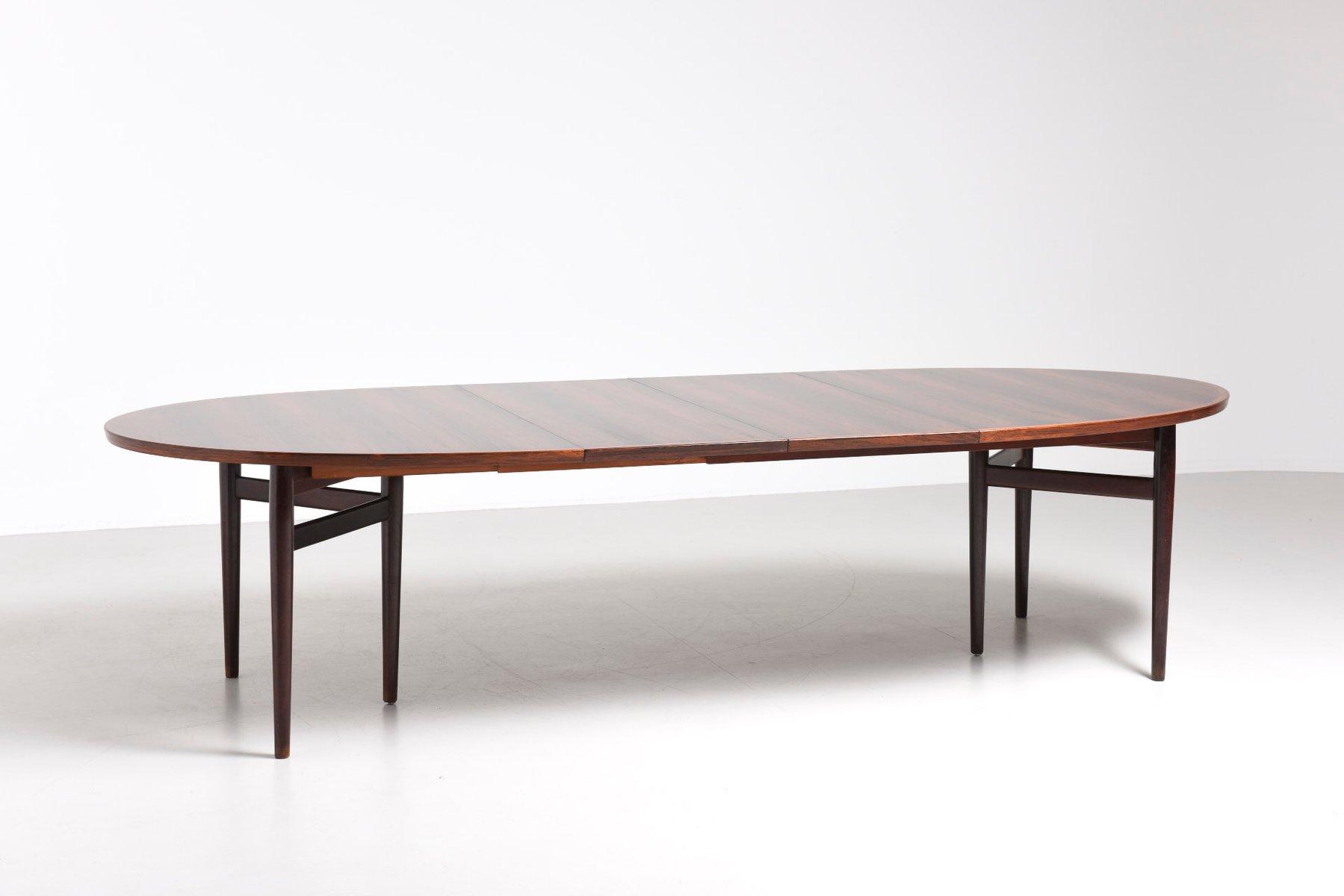 Table de salle manger 212 mid century ovale par arne for Salle a manger 1950