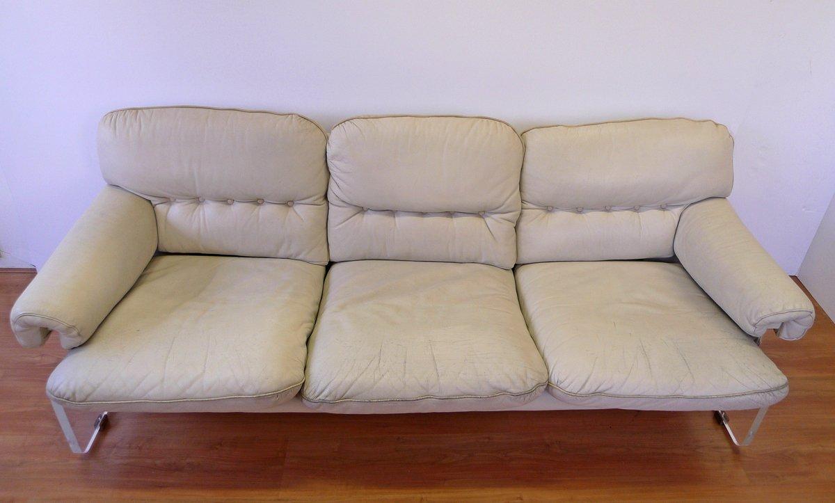 wei es leder plexiglas sofa 1960er bei pamono kaufen. Black Bedroom Furniture Sets. Home Design Ideas