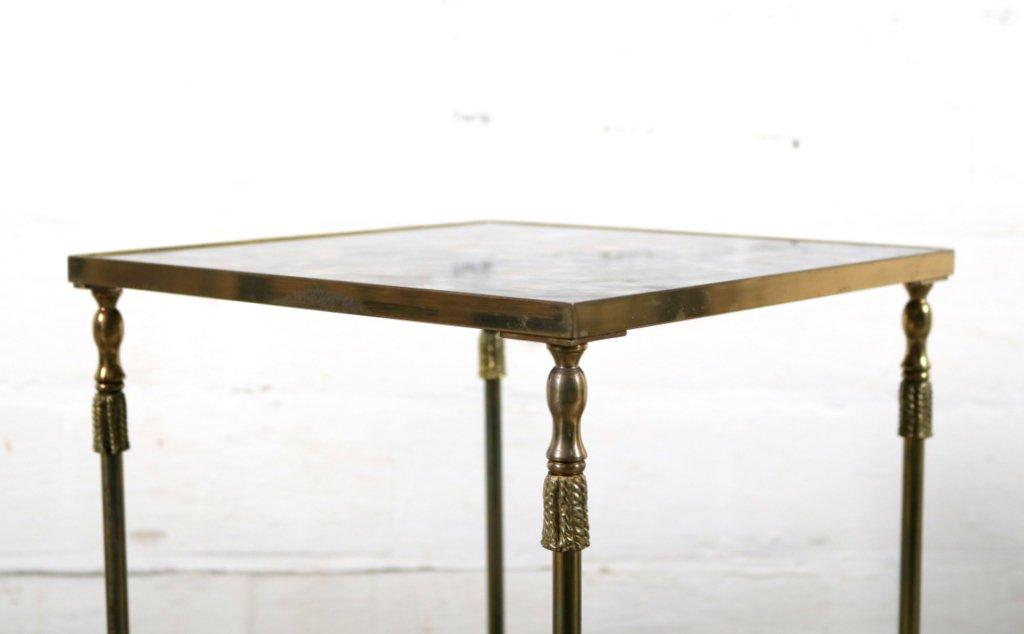vintage beistelltisch aus messing geflammten glas von maison jansen bei pamono kaufen. Black Bedroom Furniture Sets. Home Design Ideas