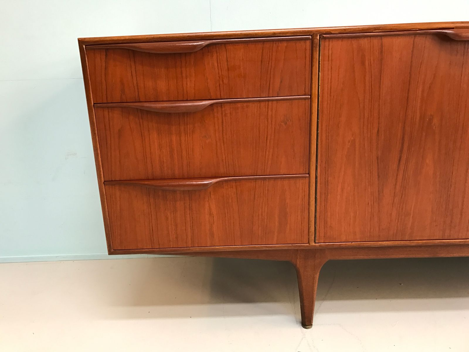 vintage lowboard in teak from mcintosh 1960s for sale at. Black Bedroom Furniture Sets. Home Design Ideas
