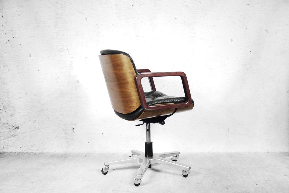 Chaise de bureau pivotante en cuir de giroflex suisse 1970s en vente sur pa - Chaise design suisse ...