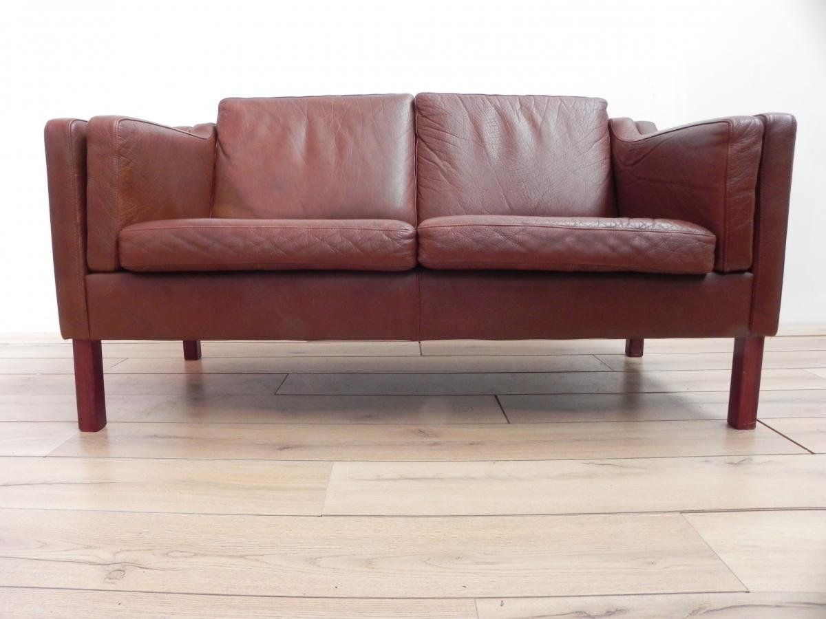Amazing Vintage Scandinavian Sofa In Brown Leather 3. $1,885.00. Price Per Piece