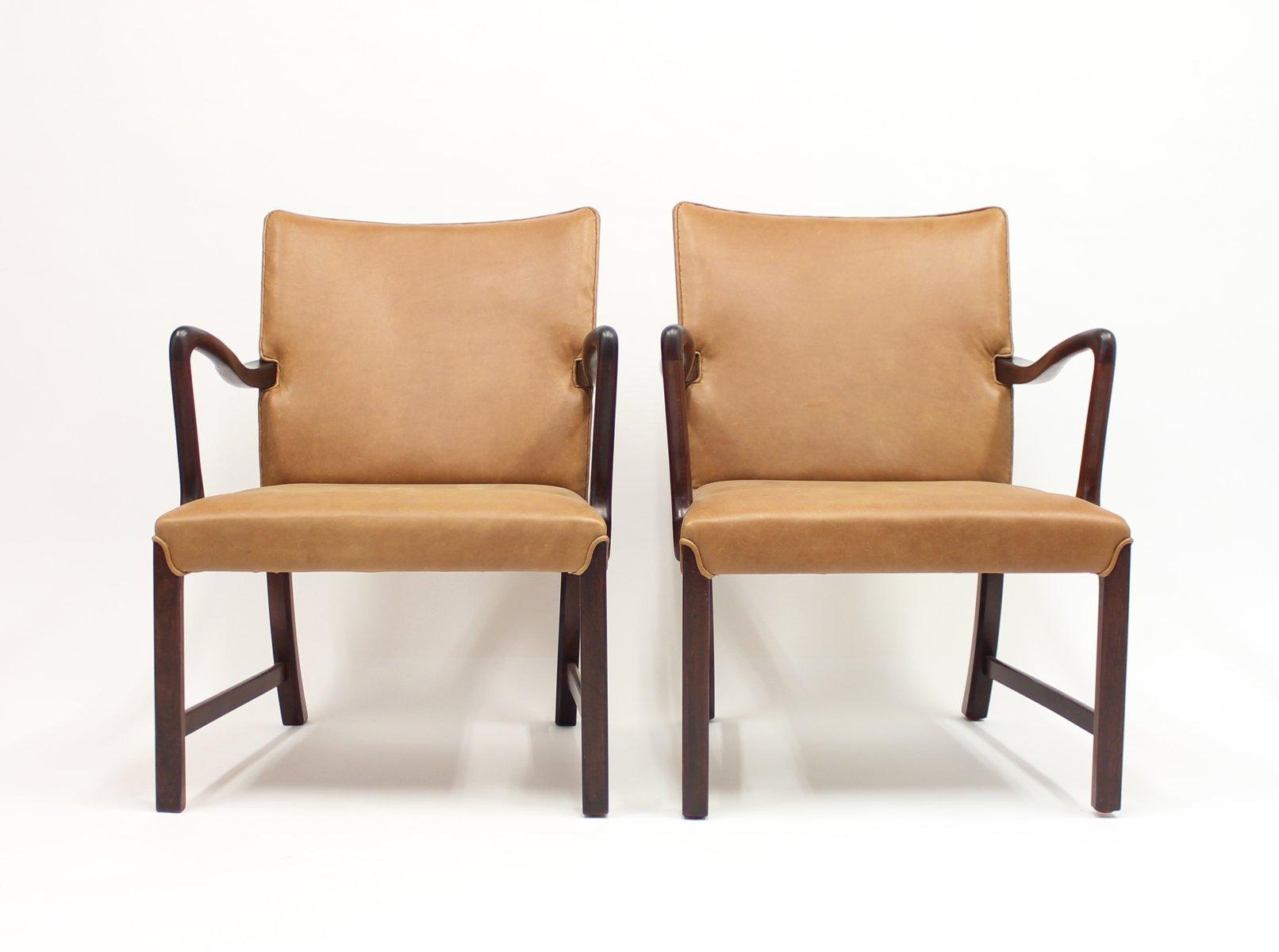 d nische 1756 sessel von ole wanscher f r fritz hansen 1940er 2er set bei pamono kaufen. Black Bedroom Furniture Sets. Home Design Ideas