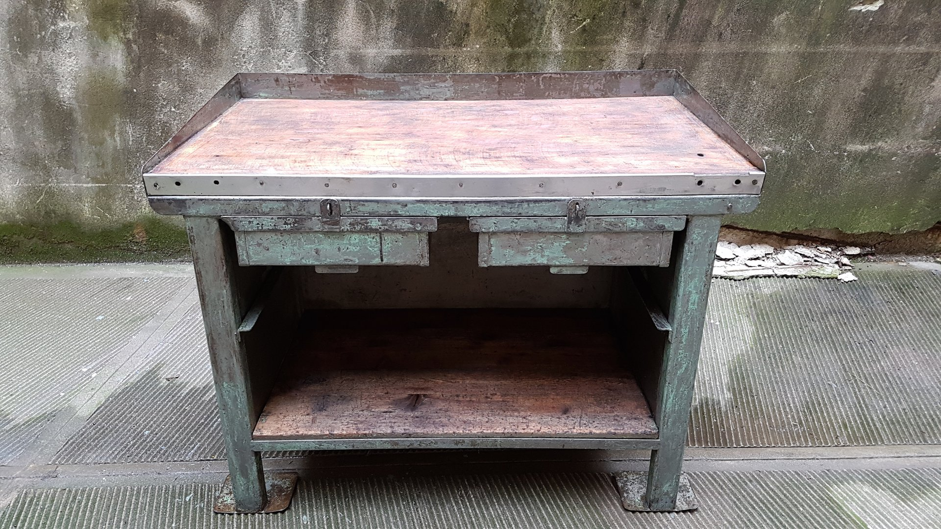 Vintage Industrial Factory Workbench 1940s for sale at Pamono