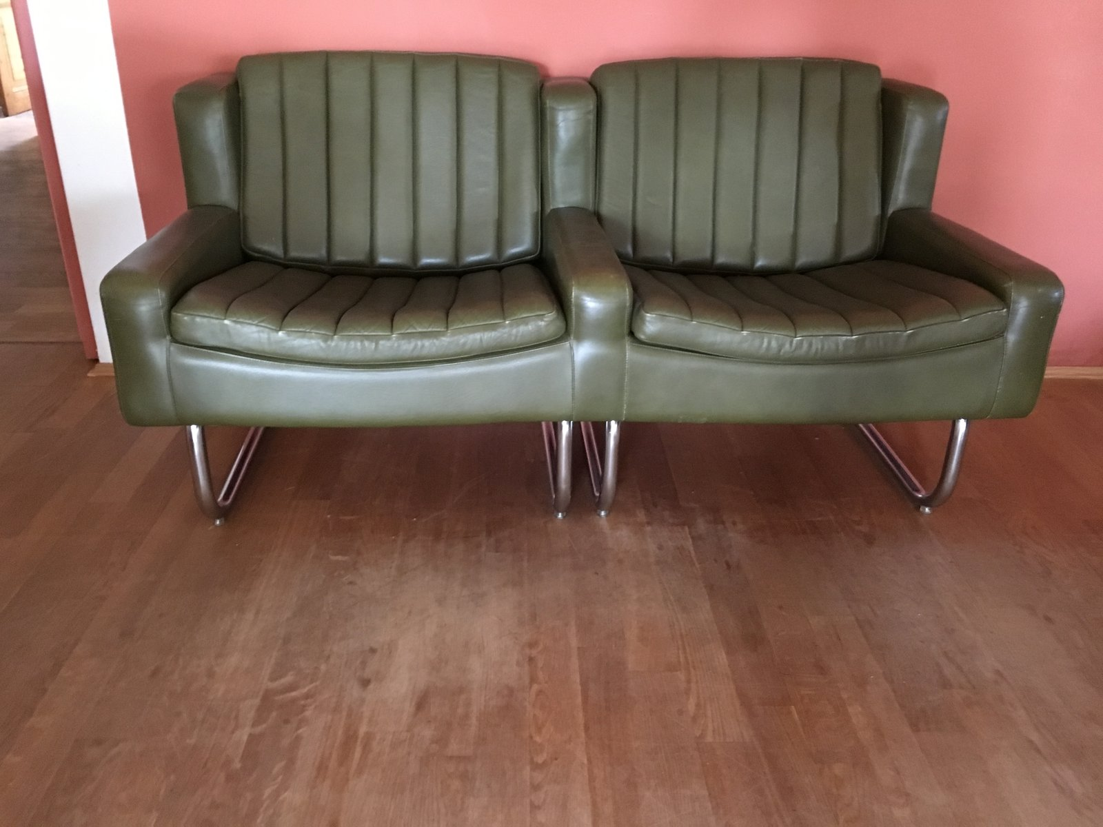 Vintage Cantilevered Chairs & Sofa Set from Asko for sale at Pamono
