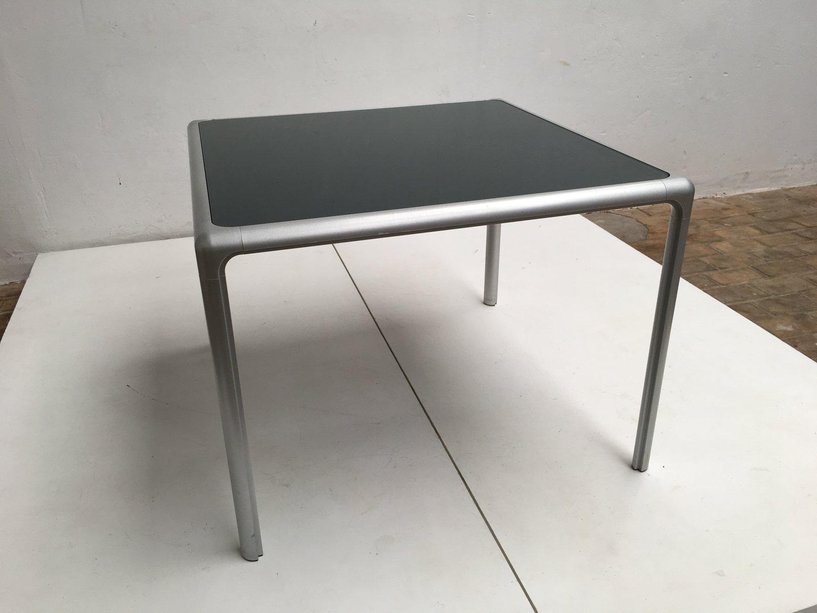 esstisch aus aluguss glas von dexo 1980er bei pamono kaufen. Black Bedroom Furniture Sets. Home Design Ideas