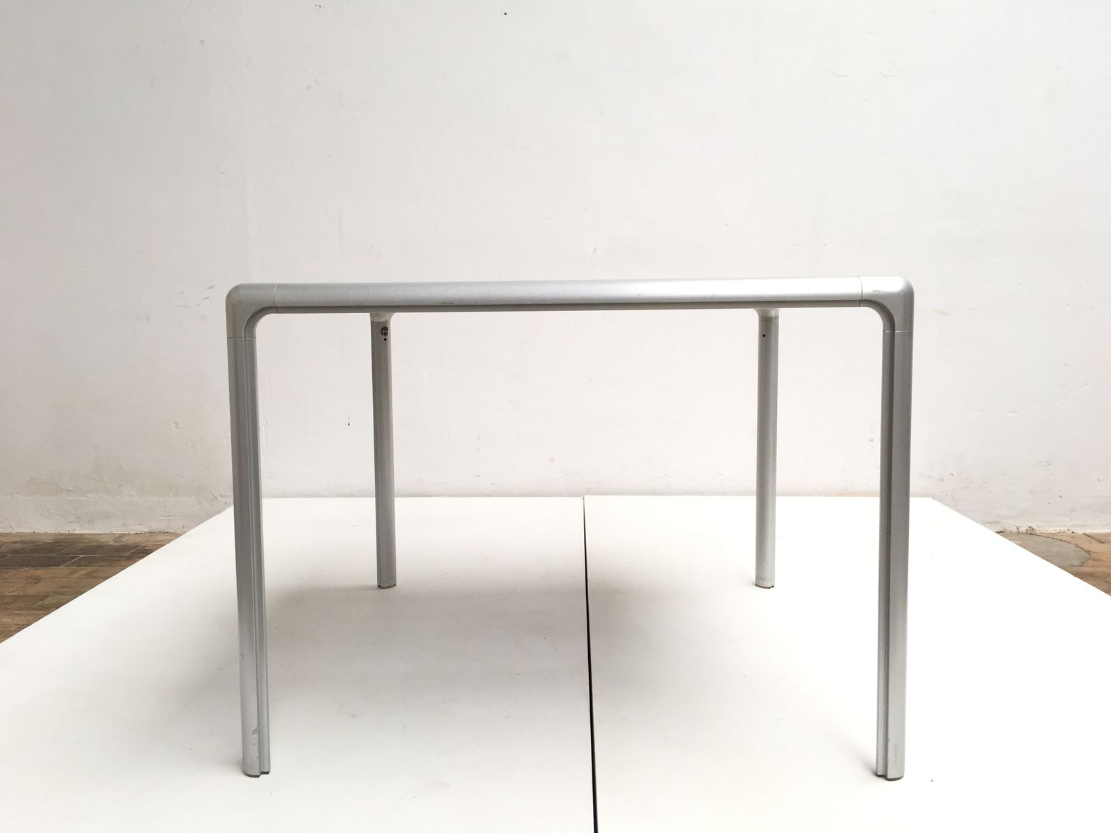 High Quality Cast Aluminum U0026 Glass Dining Table From Dexo, 1980s