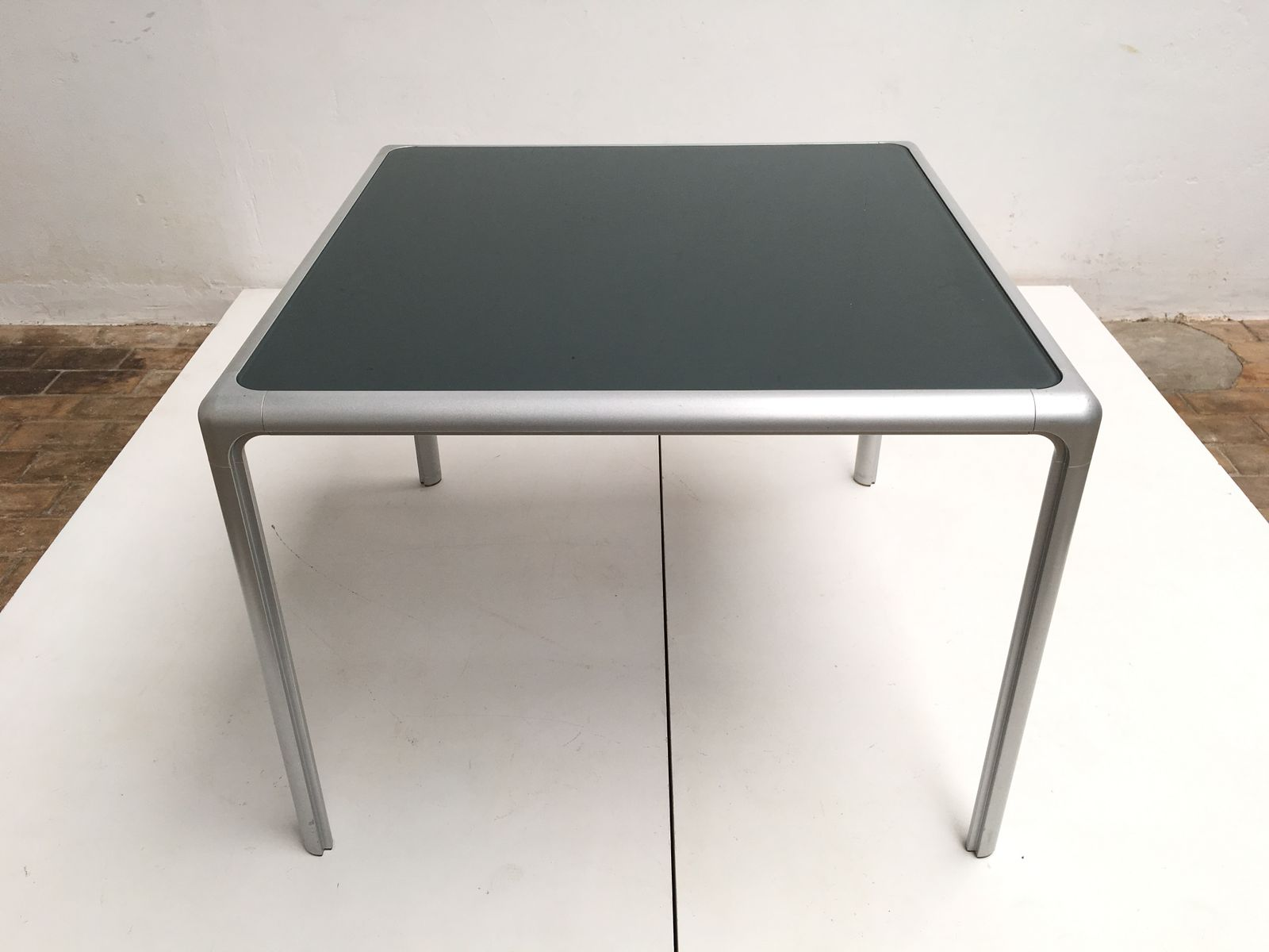 Cast Aluminum & Glass Dining Table from Dexo 1980s for sale at Pamono